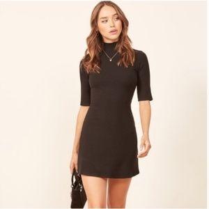 Reformation Mod Sweater Dress Black